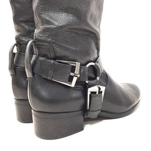 7 for all Mankind Black Leather Knee High Boots